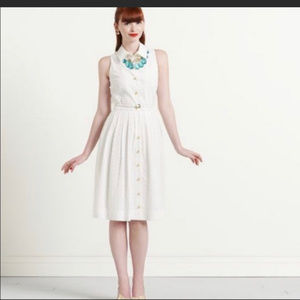 Kate Spade New York Eyelet Dress Sz 6 (A10)